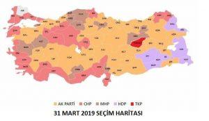 31 mart seçim haritası