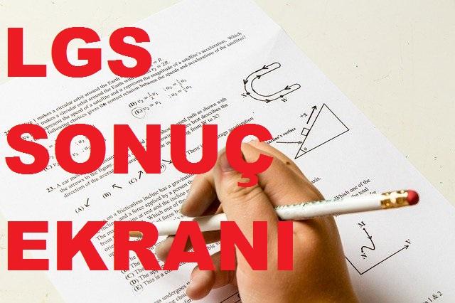 lgs, lgs sonuc, lgs spnuclari, lgs sonuc ekrani, lgs ekran, meb gov lgs sınav sonuçları